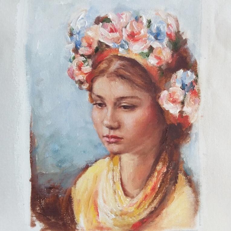 Emma portrait painting