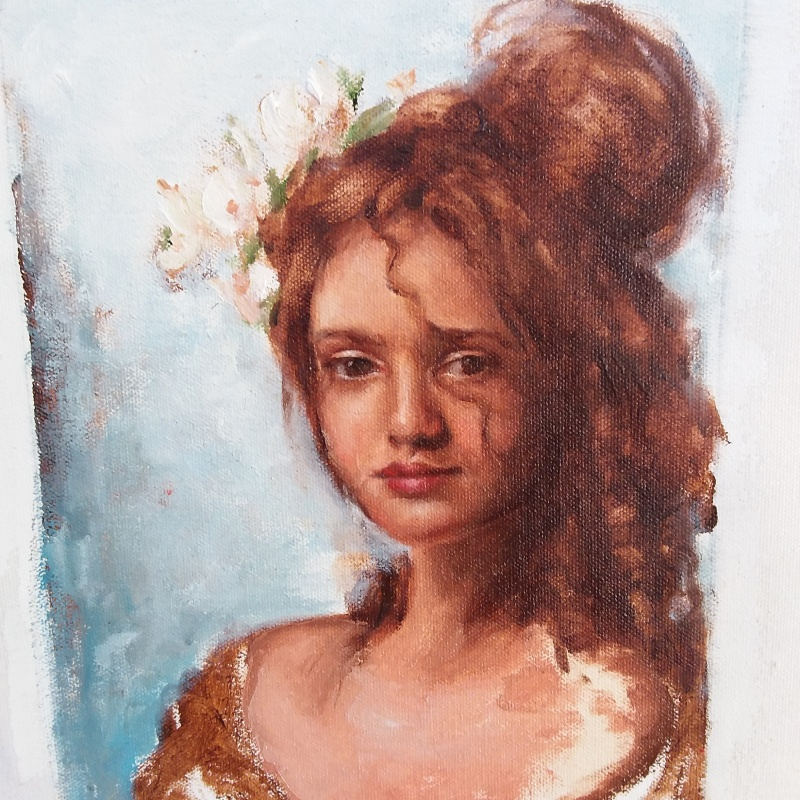 Portrait of Florence, oil on canvas