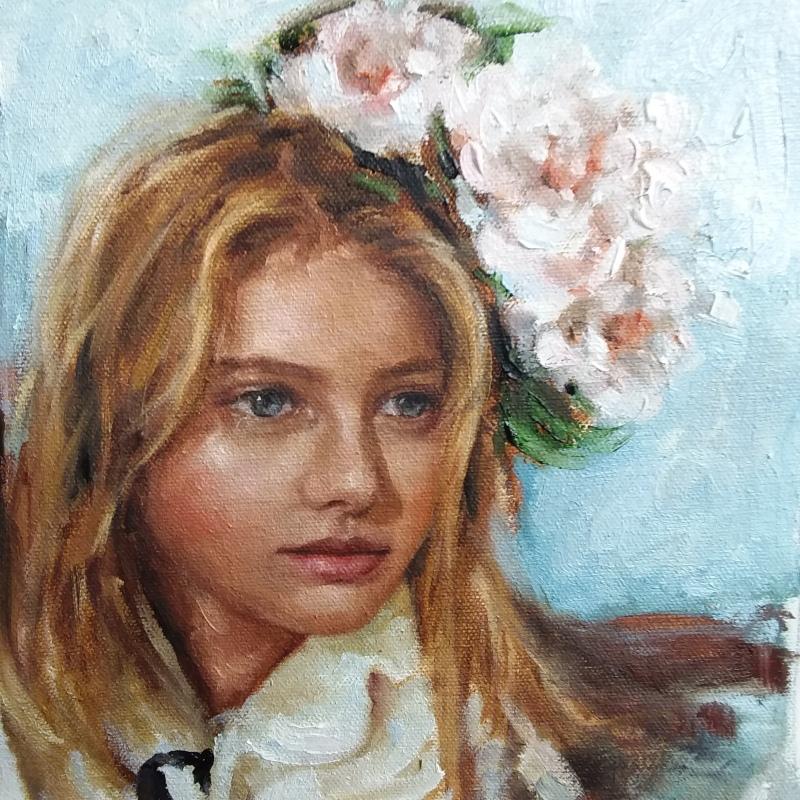 'Ness' portrait painting (detail) oil on canvas