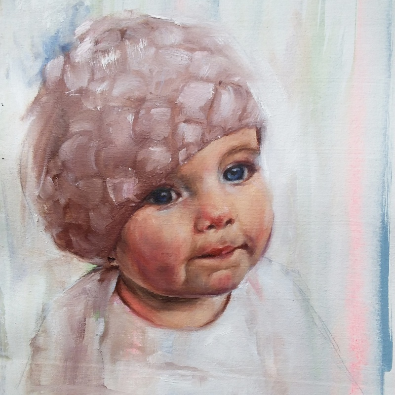 Nora, oil painting on canvas, 2016